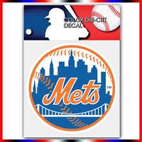 "New York Mets MLB Die Cut Vinyl Sticker Car Bumper Window 4""x4"""