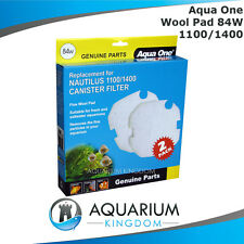 25084W Aqua One Wool Pad 84W 2pk - Nautilus Canister 1100 1400 Filter Media Pads