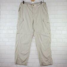 Columbia Mens Size LARge Pants Beige Omni-Dry Zip-Off Legs W-35 In-30 R-10.5