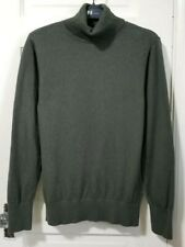 Womens LL Bean CASHMERE BLEND Pullover Sweater Petite PM Medium Army Olive Green