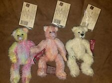 """Nwt Boyd Bear Vintage Edition 6"""" Jointed Mohair 3pc Doll Lot"""