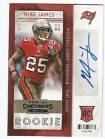 MIKE JAMES 2013 PANINI CONTENDERS ROOKIE RC AUTO AUTOGRAPH TAMPA BAY BUCCANEERS