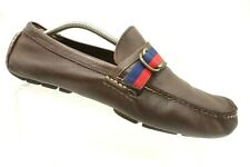 Ralph Lauren Polo Brown Leather Casual Moccasin Driving Loafers Shoes Mens 10 D