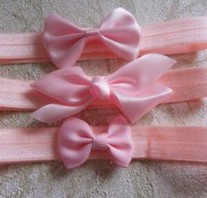 newborn Baby  Girls Headbands  Hairband Bundle  Set of 3 Pink SALE