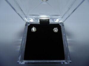 1 carat certified natural diamond studs I1-I2 and H/I; 14K Yellow Gold