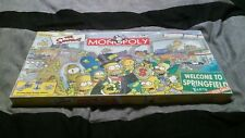 2001 The Simpsons Monopoly Board Game Welcome to Springfield Parker Brothers