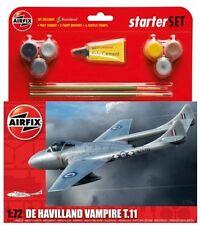 AIRFIX 55204 - 1/72 De Havilland Vampire T11 KIT MODELLO Set Starter