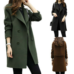 New Women's Fashion Overcoat Trench Coat Ladies Winter Long Jacket Warm