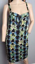 NWT Missoni Mini Coverup Floral Vicose Keyhole Stretch Jersey Beach Dress M