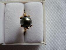 Bague en or avec Perle de Tahiti taille 58