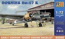 RS Models 1/72 Dornier Do17K versión temprana corto motor Góndola