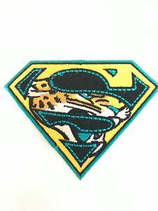Jax Jaguars NFL Jersey Super Patch TIAA Bank Field Iron On Sew Shirt Jacket Bag