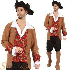 Hombre Disfraz de Pirata Azul Marino ENVÍO Admiral COMMANDER DEL CARIBE +