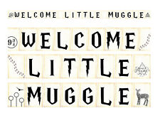 Coco&Bo - Welcome Little Muggle Bunting - Harry Potter Inspired Baby Shower