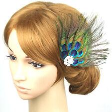 Women Lady Peacock Feather Bridal Wedding Hair Clip Pin Head Hairpin Salable
