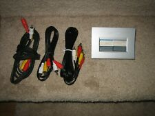 Radio Shack 2-In/1-Out Audio Video A/V Selector Switch. 15-1982 w/Cables - Works