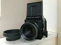 【EXC+5 w/ Hood】 Mamiya RB67 Pro S Camera Sekor C 127mm F3.8 120 back from JAPAN
