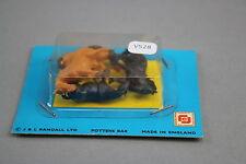 V528 Merit European toy Ho OO train chevaux 4 pièces Made in england Randall Bar