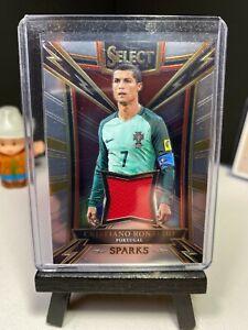 2017-18 Panini Select Soccer CRISTIANO RONALDO Sparks Jersey Material   Portugal