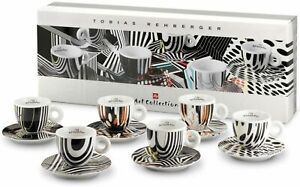 illy Art Collection 2010 Tobias Rehberger Luxe Coffee set 6 Cappuccino Cups
