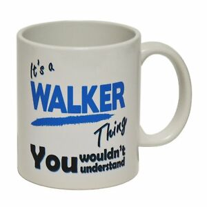 Its A Walker Thing Mug Personalised Surname Name Family Coffee birthday gift