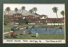 Desert Resort Palm Springs Ted Crane 1989 Framed Matted Art Print - Golf Course