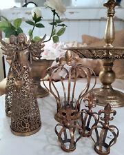 Krone Antik Gold Lilie Metall Shabby Vintage Nostalgie Weihnachten Landhaus Deko