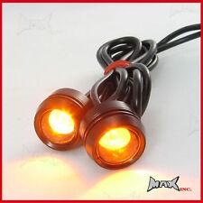 Blinkers Indicators - Pair of Motorbike Amber Universal LED Lights