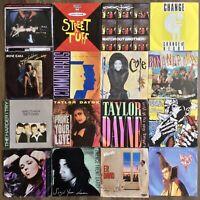 1980's & 90's 16 x Vinyl Job Lot ~ 1st UK Pressing & Original Picture Sleeves