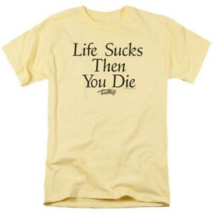 Life Sucks Then You Die Graphic t-shirt classic 80s movie Teen Wolf MGM272