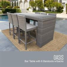 Monterey Bar Table Set Barstools 7 Piece Outdoor Patio Furniture