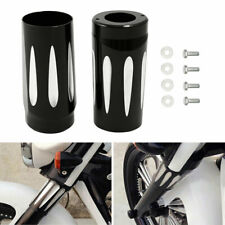 Fork Boot Slider Cover Cow Bell Fit For Harley Touring Road King Street Glide