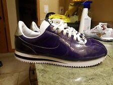 Nike Cortez Basic PREM QS Men's 10 Purple Silver 819721-500 Patent Leather