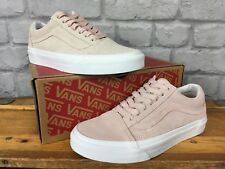 4ea7abc0878fdc VANS LADIES OLD SKOOL UK 3 EUR 35 SEPIA ROSE  PASTEL PINK   WHITE TRAINERS