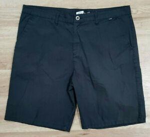 Hurley Mens Shorts Size 40 Chino Reagan Black
