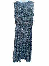 Positive Attitude Womens A Line Maxi Dress Brown Blue Polka Dot Stretch Plus 20W