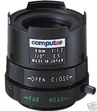 """Obiettivo Computar T0412-FICS,lente focale fissa,ottica 1/3"""",4 mm,iride fissa,CS"""