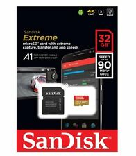 SanDisk Extreme 32GB microSDHC Memory Card Plus SD Adapter up to 100MB/s