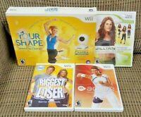 Biggest Loser, Jillian 2009, Your Shape w/ Camera - Nintendo Wii / Wii U Games -