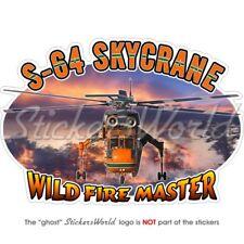 SIKORSKY SKYCRANE FireFighter Hélicoptère 140mm Vinyle Sticker Autocollant