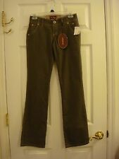 Junior's Be Bop Stretch Cotton/Spandex Boot Olive Green Denim Jean Size 0 New