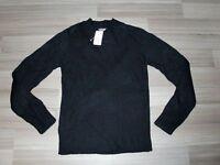 H&M Schwarz Hammer Exclusiv & MODErne Schnitt Damen Pullover Gr. S #3265 NEU