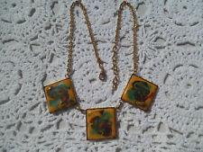 Magnifique collier ancien en émail vintage