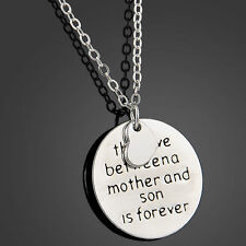 Dazzling Women English Proverbs Love Letter Necklace Simple Pendant Jewelry Gift