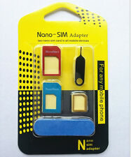 SIM Card to Micro Standard Adapter Adaptor Converter Set For Iphone 4S 5 5S BUA