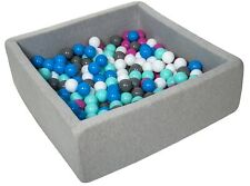 Piscina infantil para niños de bolas pelotas 200 piezas, aprox. 90x90cm