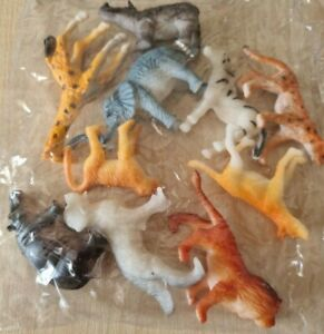 BRAND NEW SEALED PACK 10 WILDLIFE, ZOO MODEL FIGURE TOY ANIMALS - U.K SELLER