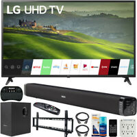 "LG 49"" HDR 4K UHD Smart IPS LED TV 2019 Model + Soundbar Bundle"