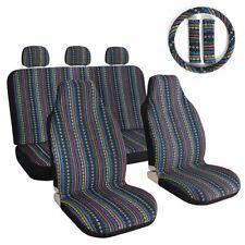 10pcs Car Seat Covers Dark Baja Stripe Saddle Blanket Universal For Cars