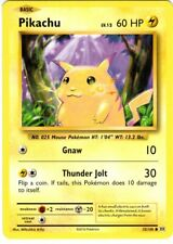 Pikachu 35/108 Evolutions Non-Holo - Englische Pokemon Karte - NM - Unbespielt